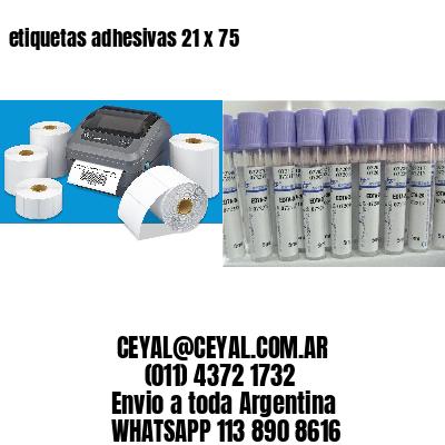 etiquetas adhesivas 21 x 75
