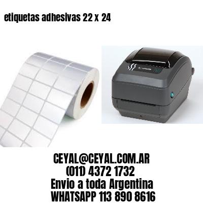 etiquetas adhesivas 22 x 24