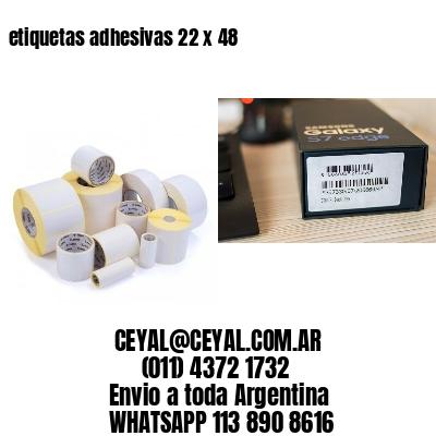 etiquetas adhesivas 22 x 48