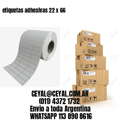 etiquetas adhesivas 22 x 66