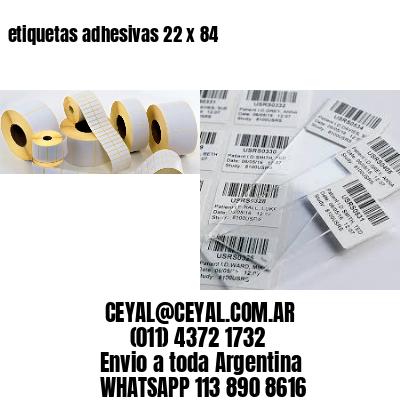 etiquetas adhesivas 22 x 84