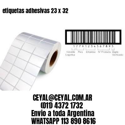 etiquetas adhesivas 23 x 32