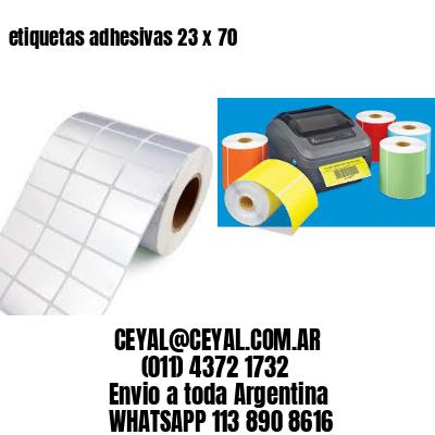 etiquetas adhesivas 23 x 70