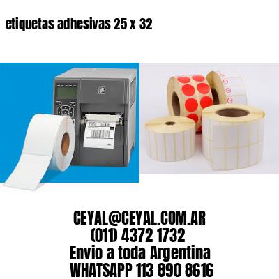 etiquetas adhesivas 25 x 32