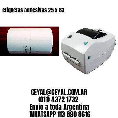 etiquetas adhesivas 25 x 83