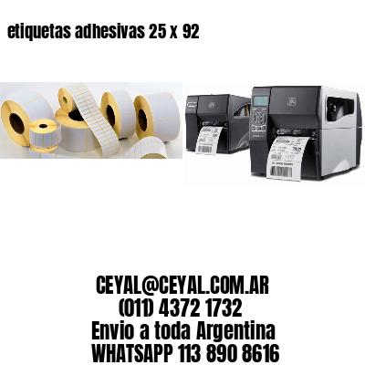 etiquetas adhesivas 25 x 92