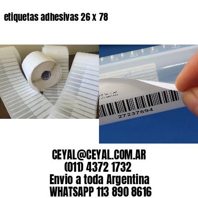 etiquetas adhesivas 26 x 78