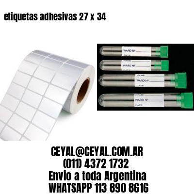 etiquetas adhesivas 27 x 34