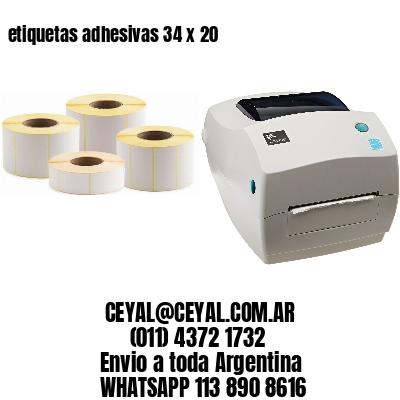 etiquetas adhesivas 34 x 20