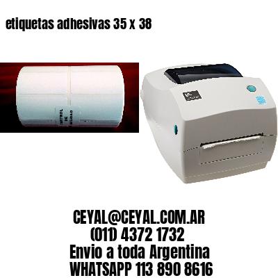 etiquetas adhesivas 35 x 38