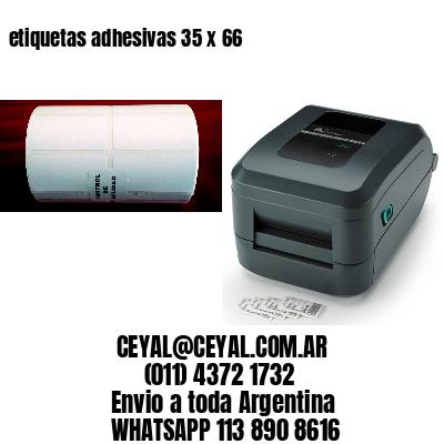 etiquetas adhesivas 35 x 66