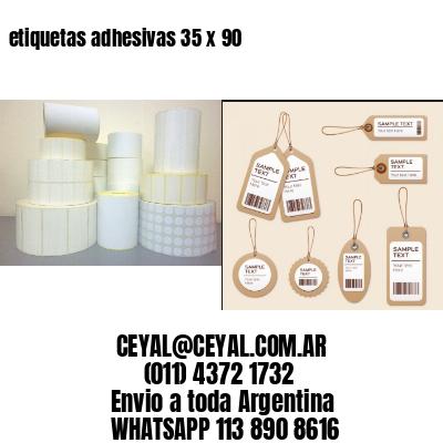 etiquetas adhesivas 35 x 90