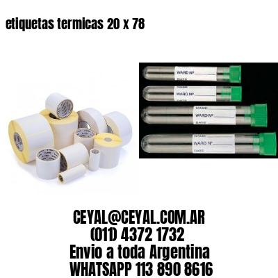 etiquetas termicas 20 x 78
