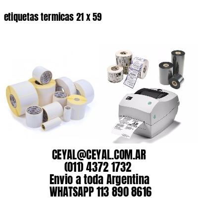 etiquetas termicas 21 x 59