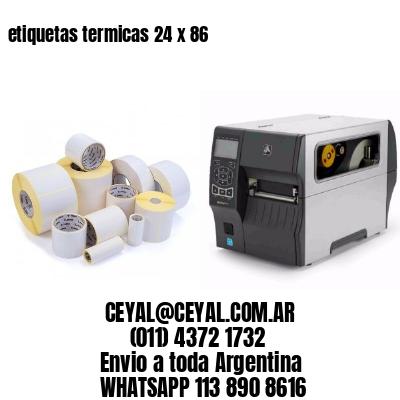 etiquetas termicas 24 x 86