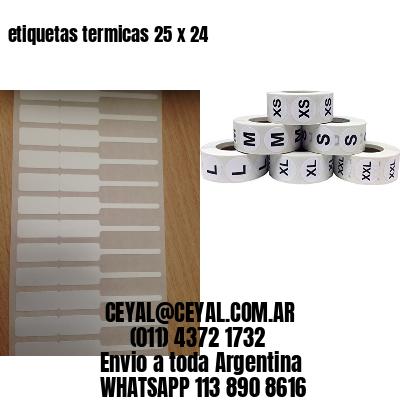 etiquetas termicas 25 x 24