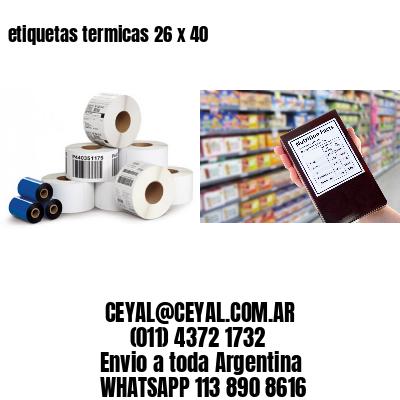 etiquetas termicas 26 x 40