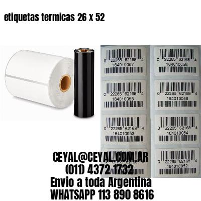 etiquetas termicas 26 x 52