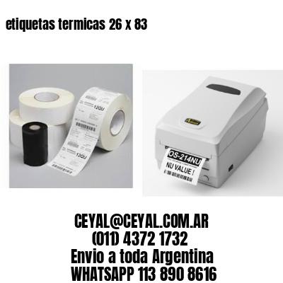 etiquetas termicas 26 x 83