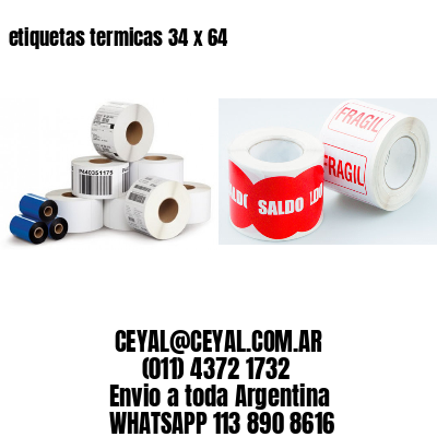 etiquetas termicas 34 x 64